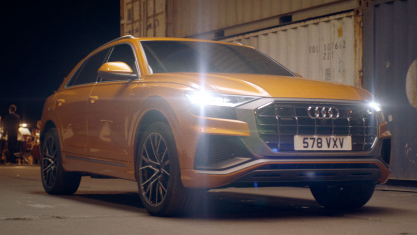 The Audi Q8 makes a grand entrance to Verdi, played by the 100-strong Odessa Philharmonic Orchestra