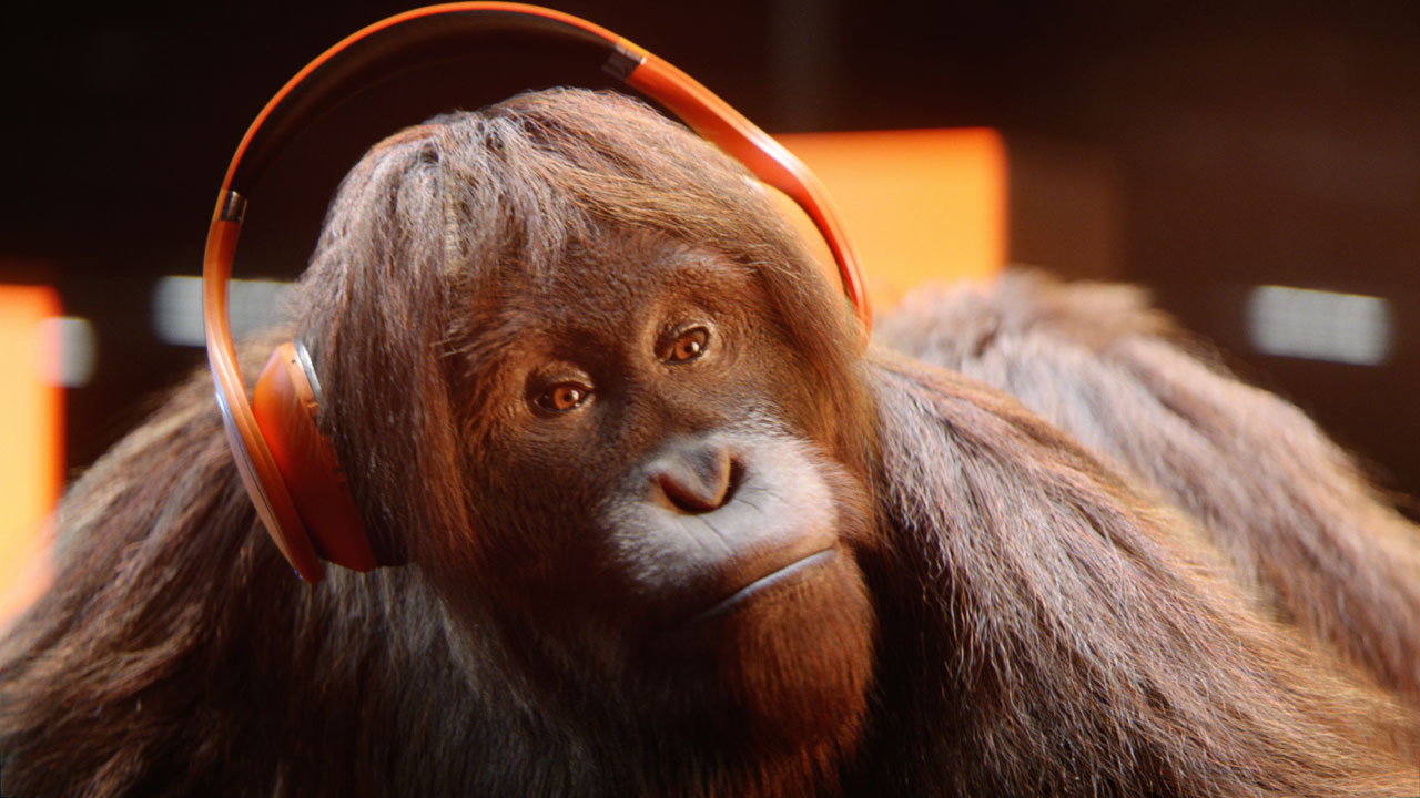 Audible launches campaign starring a collective of apes